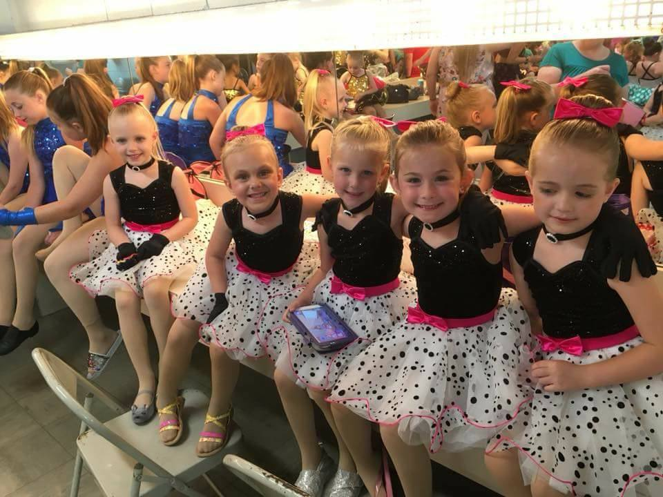 Little dancers waiting to perform